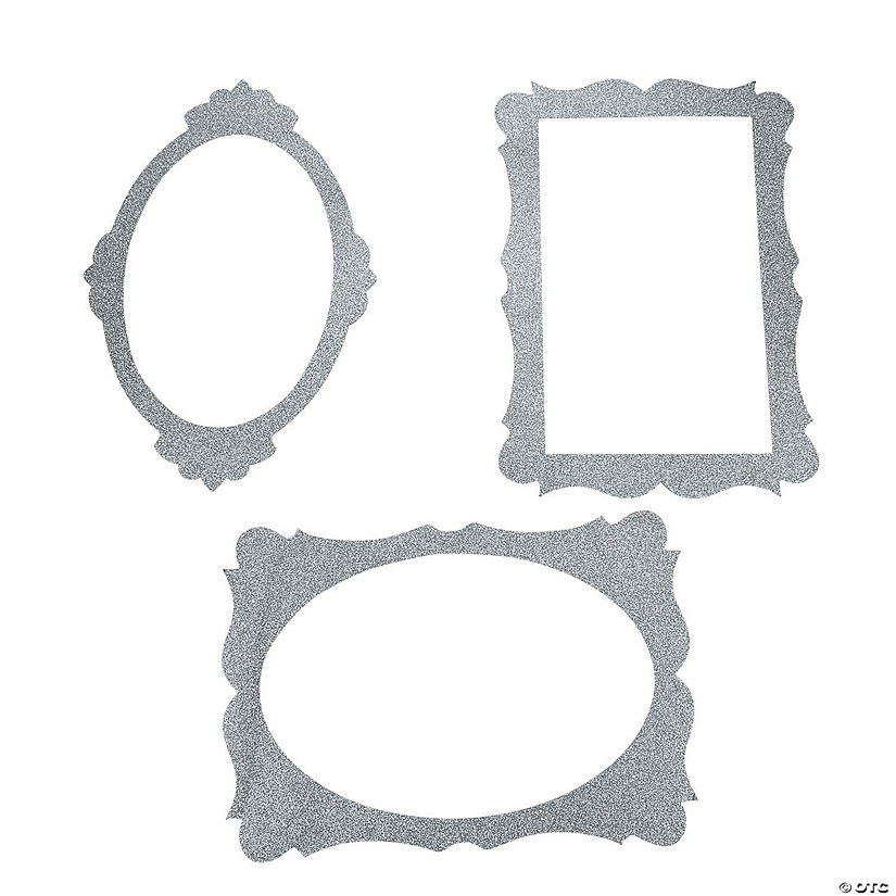 Silver Picture Frame Cutouts