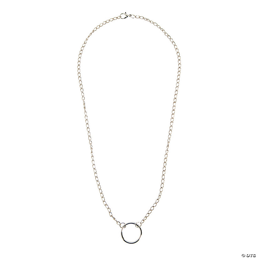 Silvertone Add-a-Charm Necklace