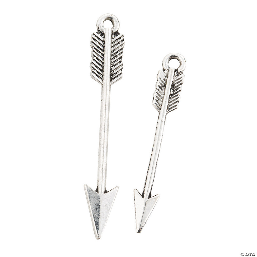 Silvertone Arrow Charms