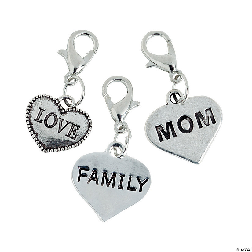 Silvertone Family Dangling Charms