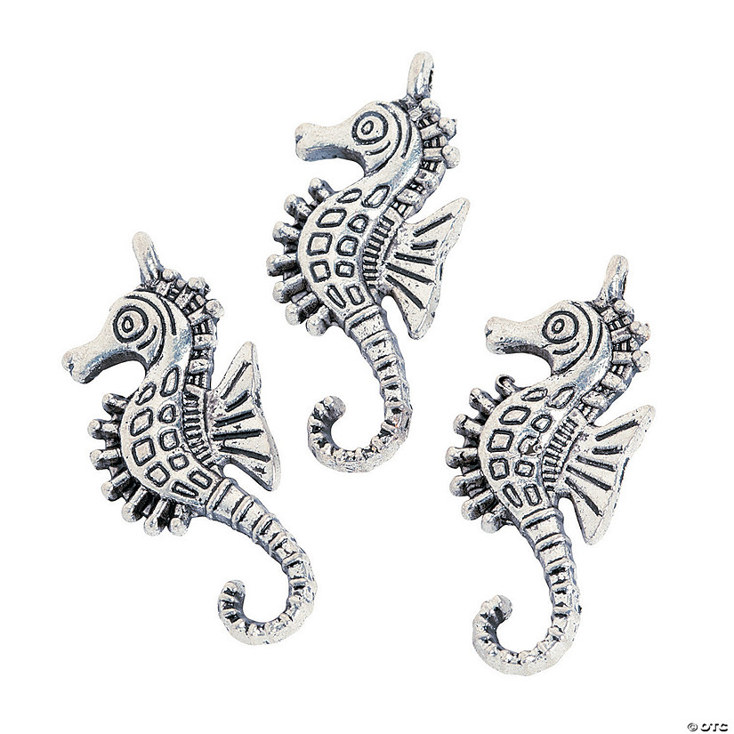 Silvertone Seahorse Charms