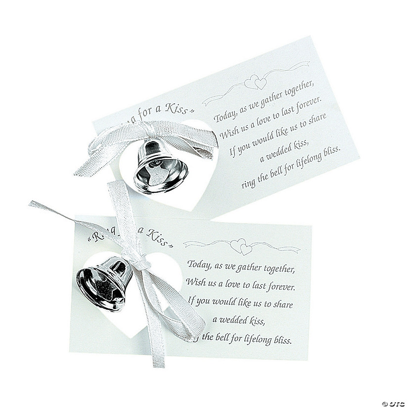 Silvertone Wedding Bells on Place Cards