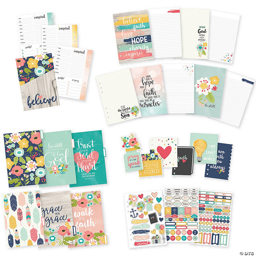 Simple Stories Carpe Diem Faith A5 Planner Inserts