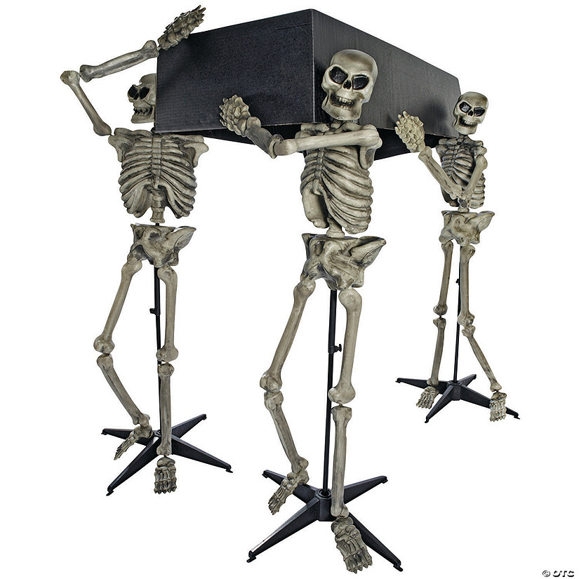 Skeleton Pallbearers with Coffin Halloween Décor