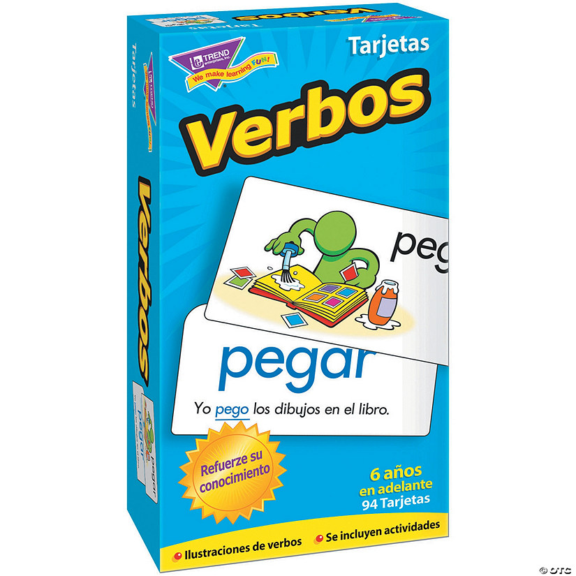 Skill Drill Flash Cards, Verbos (Spanish Flash Cards) - 96 cards per pack, 2 packs