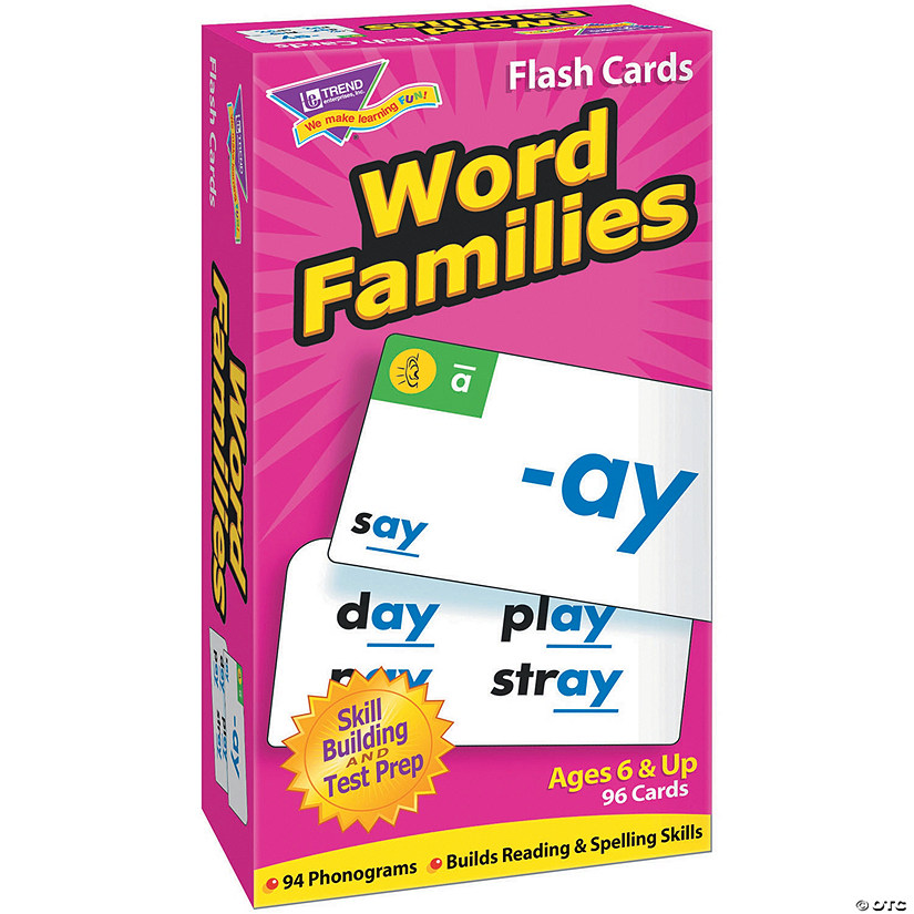 Skill Drill Flash Cards, Word Families - 96 cards per pack, 2 packs