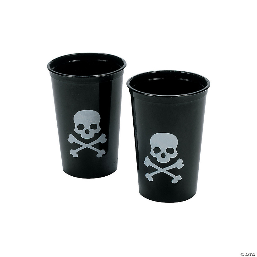 Skull & Crossbones Plastic Shot Glasses