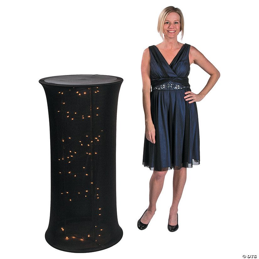 Small Black Light-Up Fabric Column