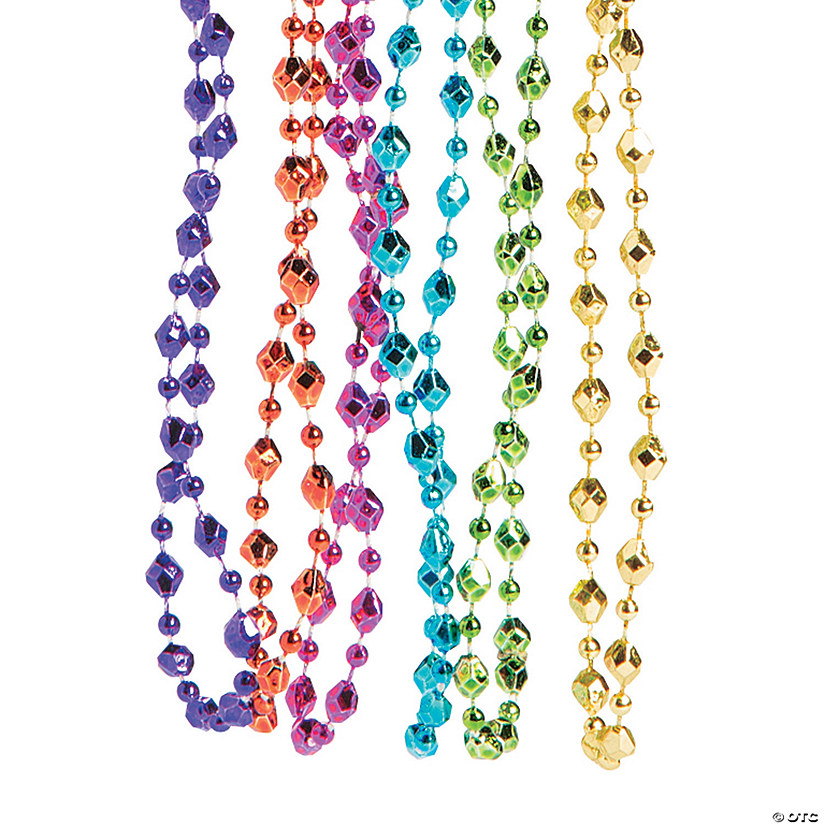Small Diamond-Shaped Bead Necklaces