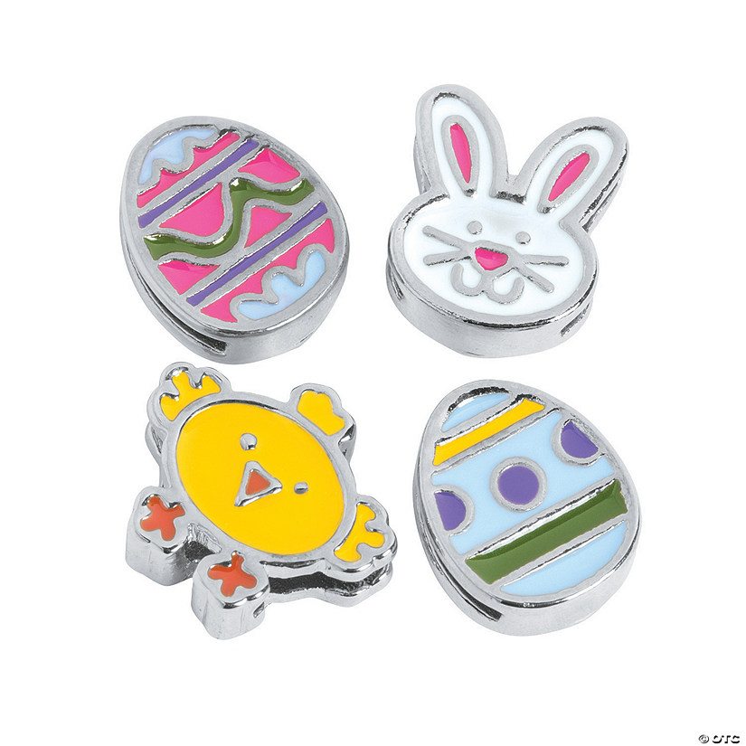 Small Enamel Easter Slide Charms