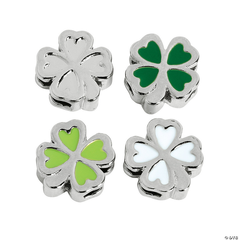 Small Enamel Shamrock Slide Charms