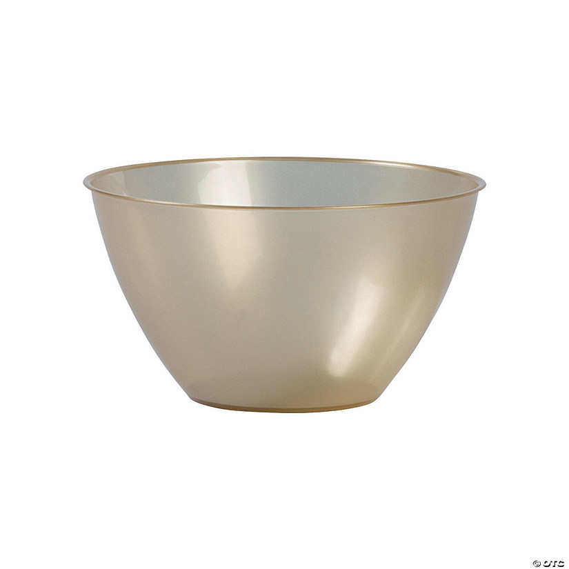 Small Gold Plastic Serving Bowl