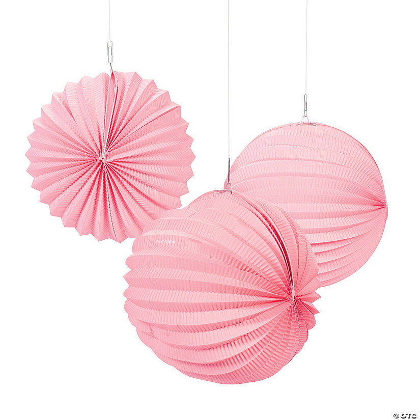 Small Pink Hanging Paper Lanterns