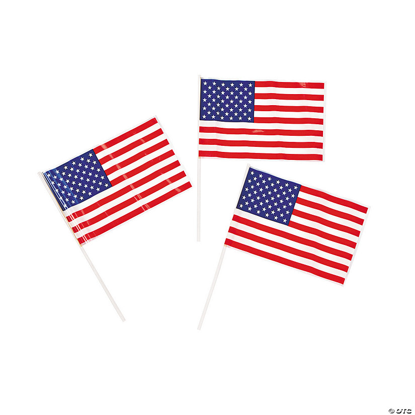 Small Plastic American Flags
