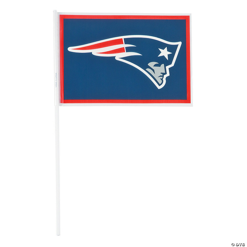 Small Plastic NFL® New England Patriots Flags