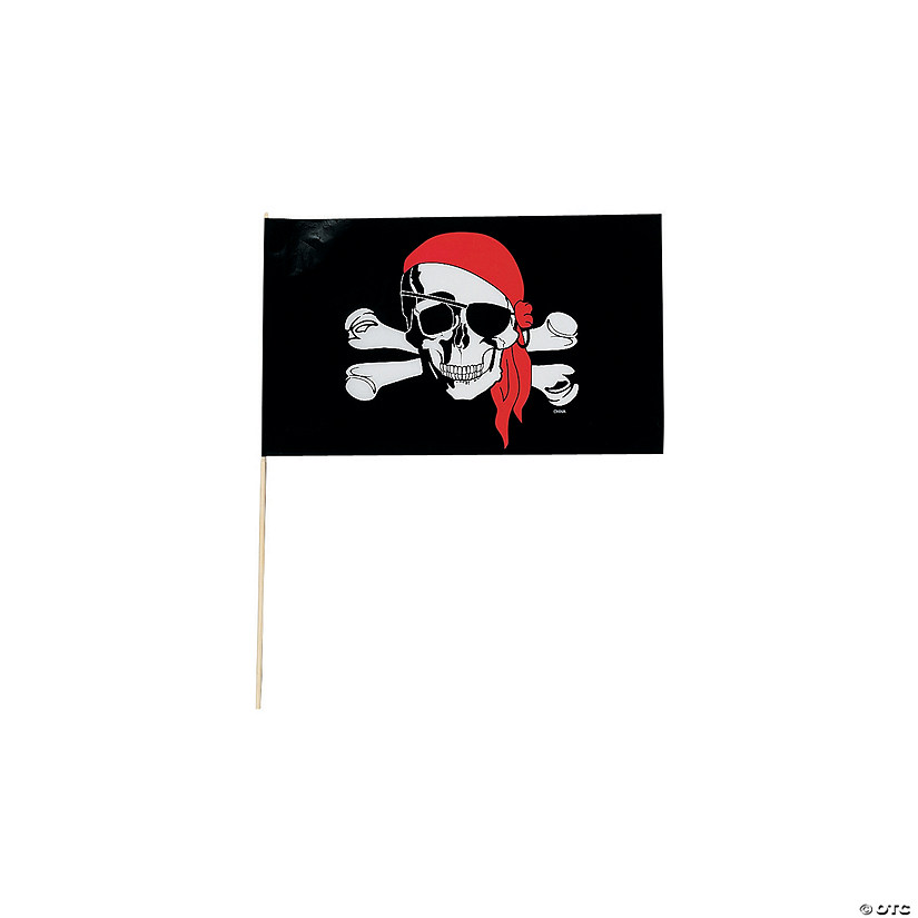 Small Plastic Pirate Flags