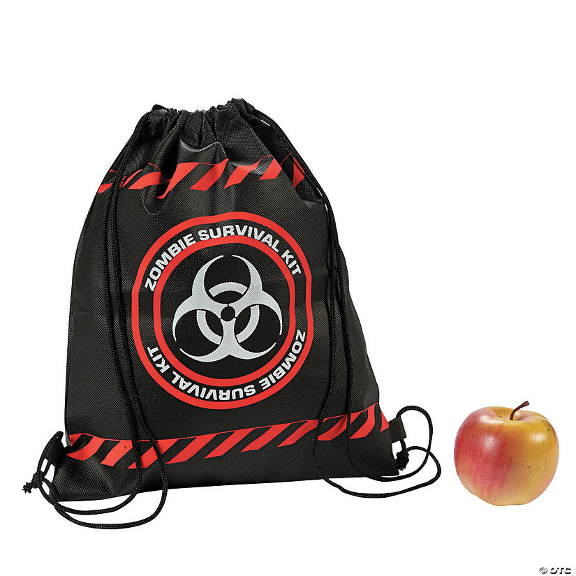 Small Zombie Survival Drawstring Bags