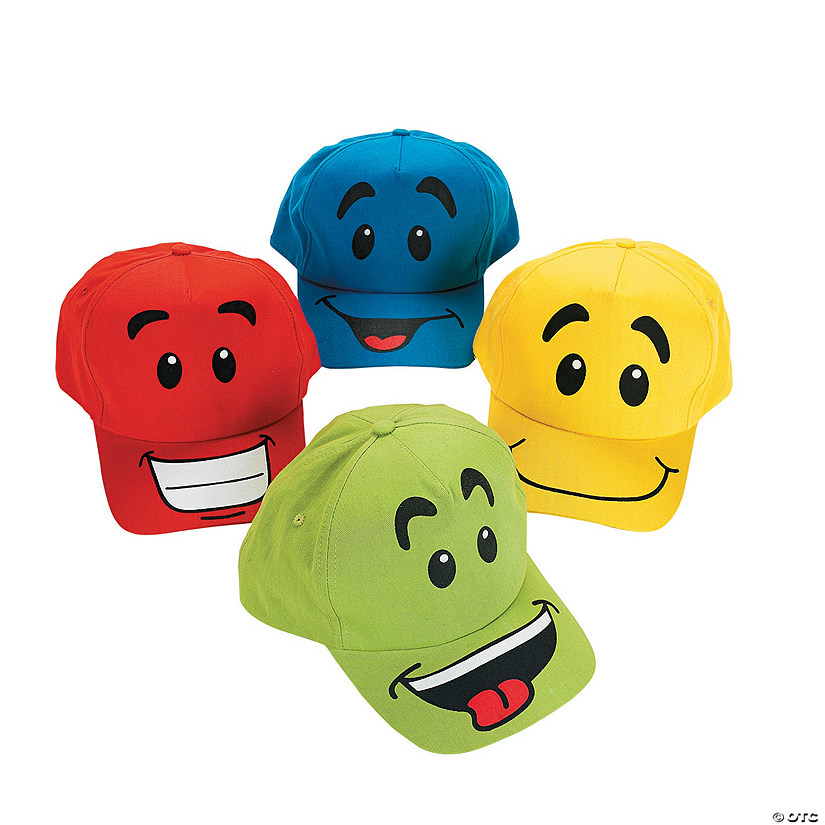 Smile Face Baseball Caps Assortment