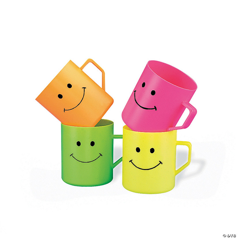 Smile Face Plastic Mugs