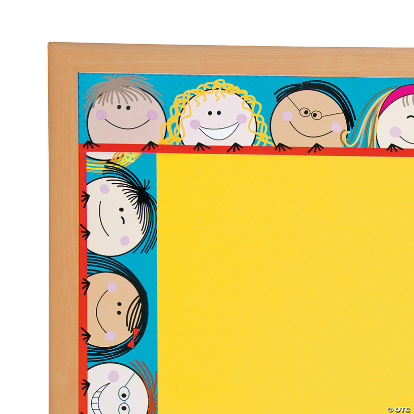 Smiling Stick Kids Bulletin Board Borders