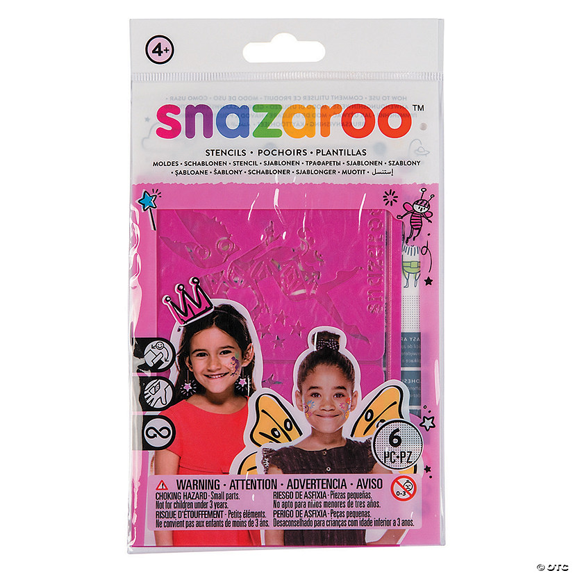 Snazaroo™ Girl's Fantasy Face Paint Stencils