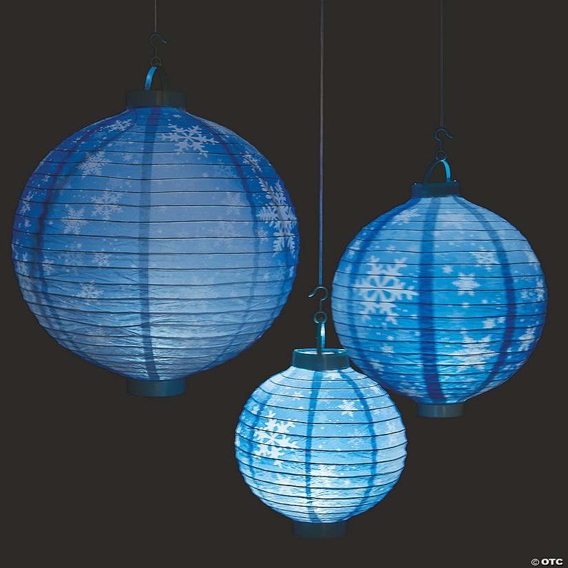 Snowflake Light-Up Hanging Paper Lanterns
