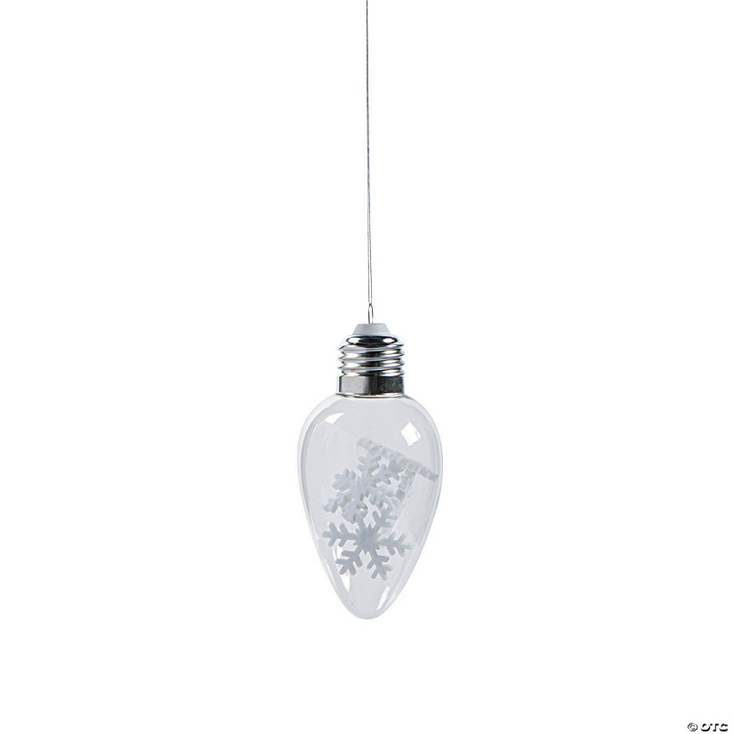 Snowflake Lightbulb Ornaments
