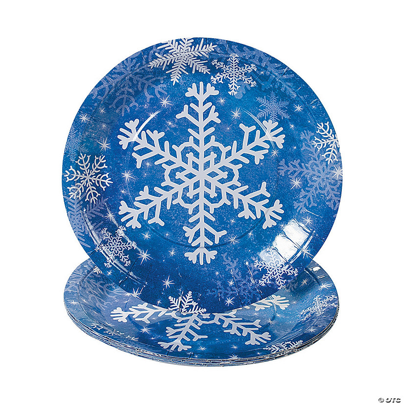 Snowflake Paper Dinner Plates