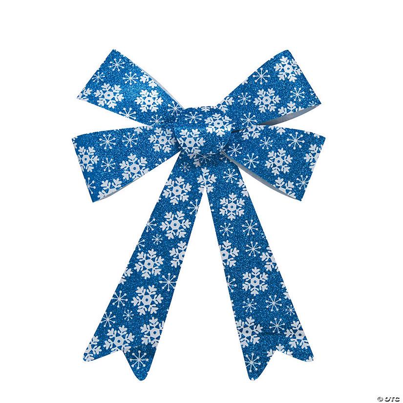 Snowflake Print Glitter Bows Discontinued