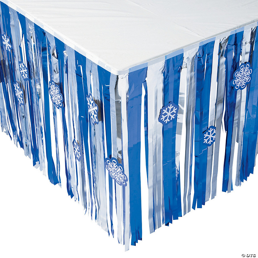 Snowflake Table Skirt with Cutouts