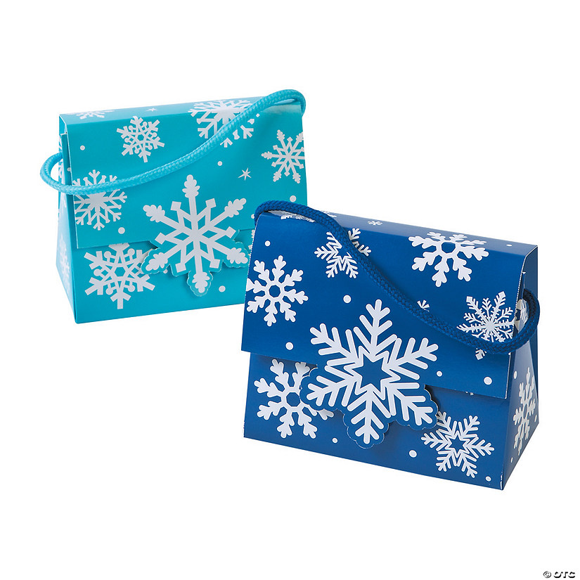Snowflake Tent Favor Boxes with Handles