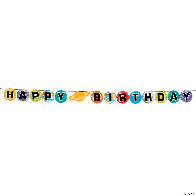 Space Party Birthday Pennant Banner