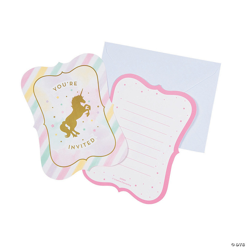 Sparkle Unicorn Invitations
