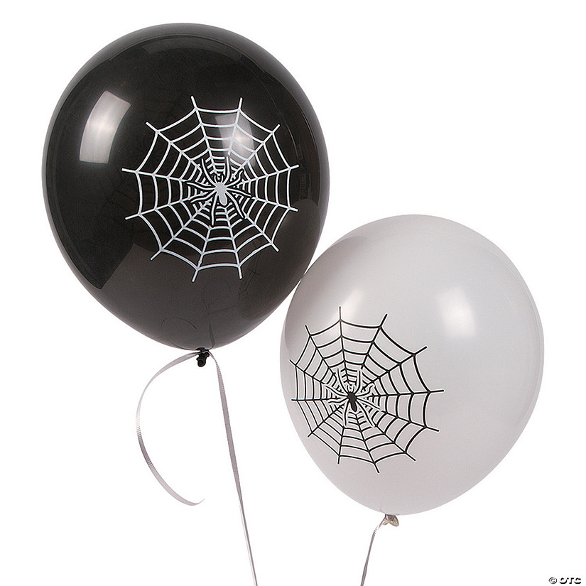 "Spider Web 11"" Latex Balloons"