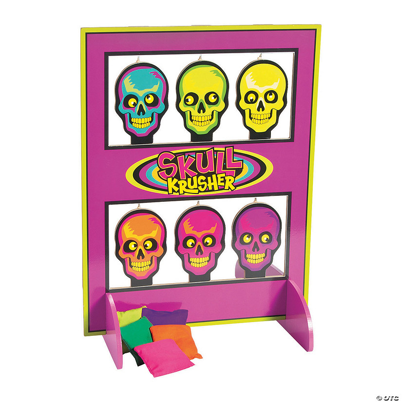 Spookadelic Skulls on a Shelf Bean Bag Toss Game
