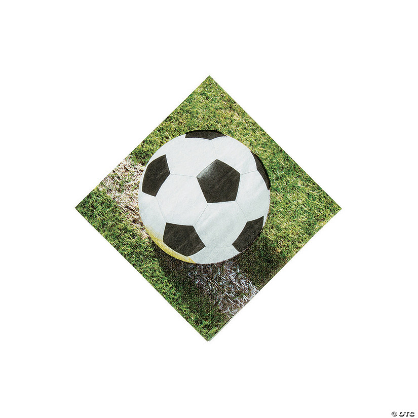 Sports Fanatic Soccer Beverage Napkins