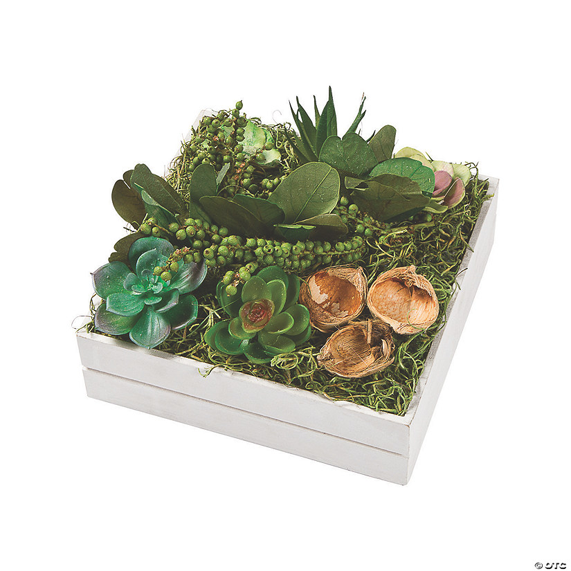 Square Faux Succulent Centerpiece
