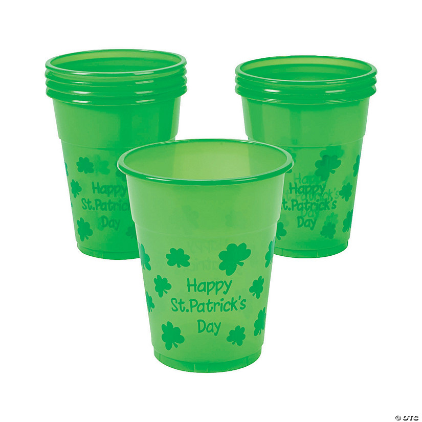 St. Patrick's Day Plastic Cups