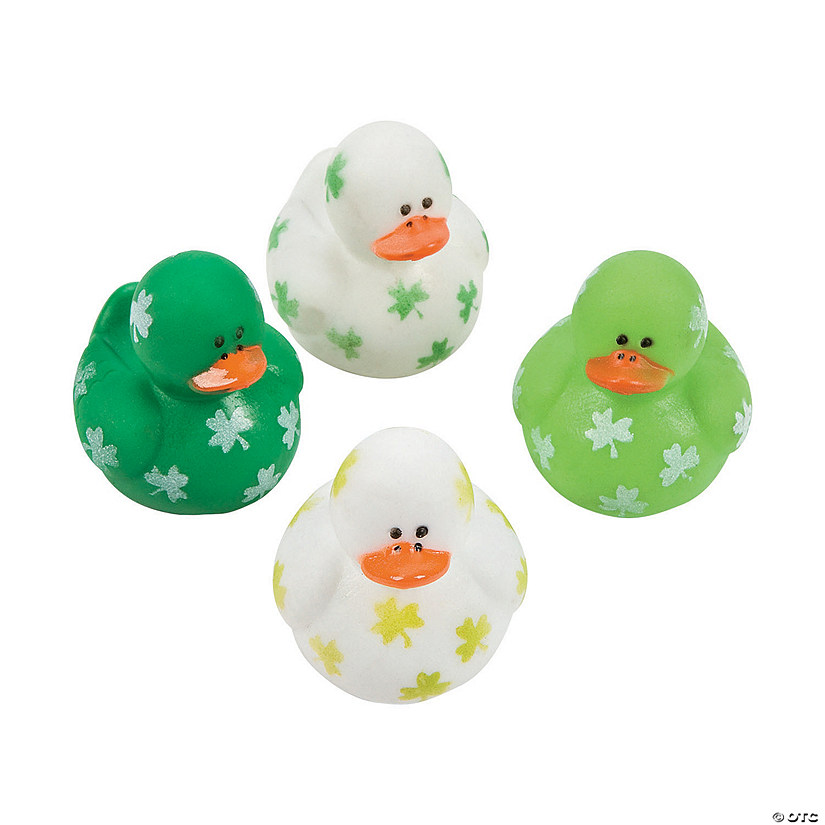 St. Patrick's Day Mini Shamrock Rubber Duckies