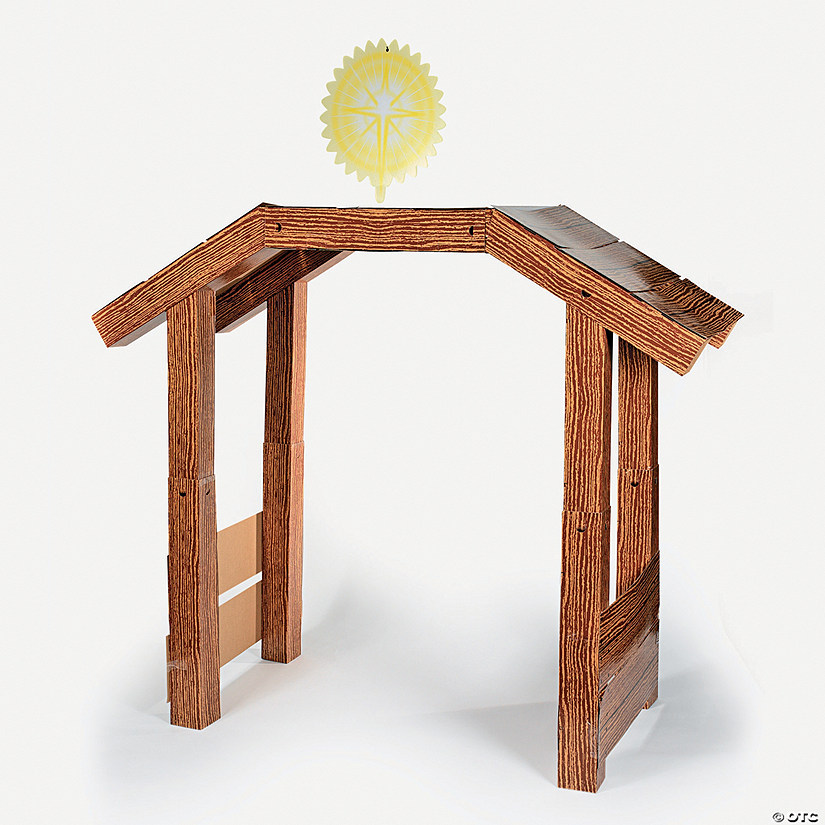 Stable Nativity Cardboard Stand-Up with Foam Tape