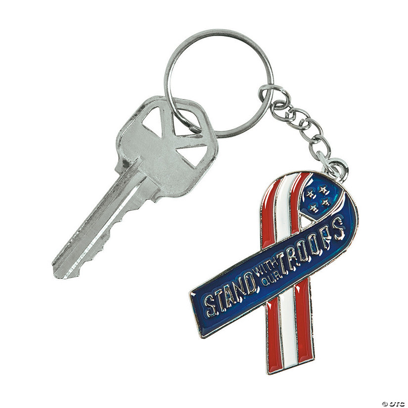 Stand With Our Troops Keychains