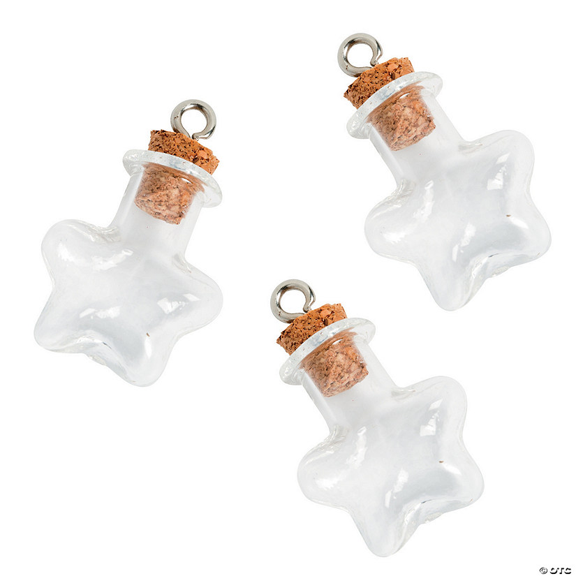 Star Bottle Charms with Cork Stopper