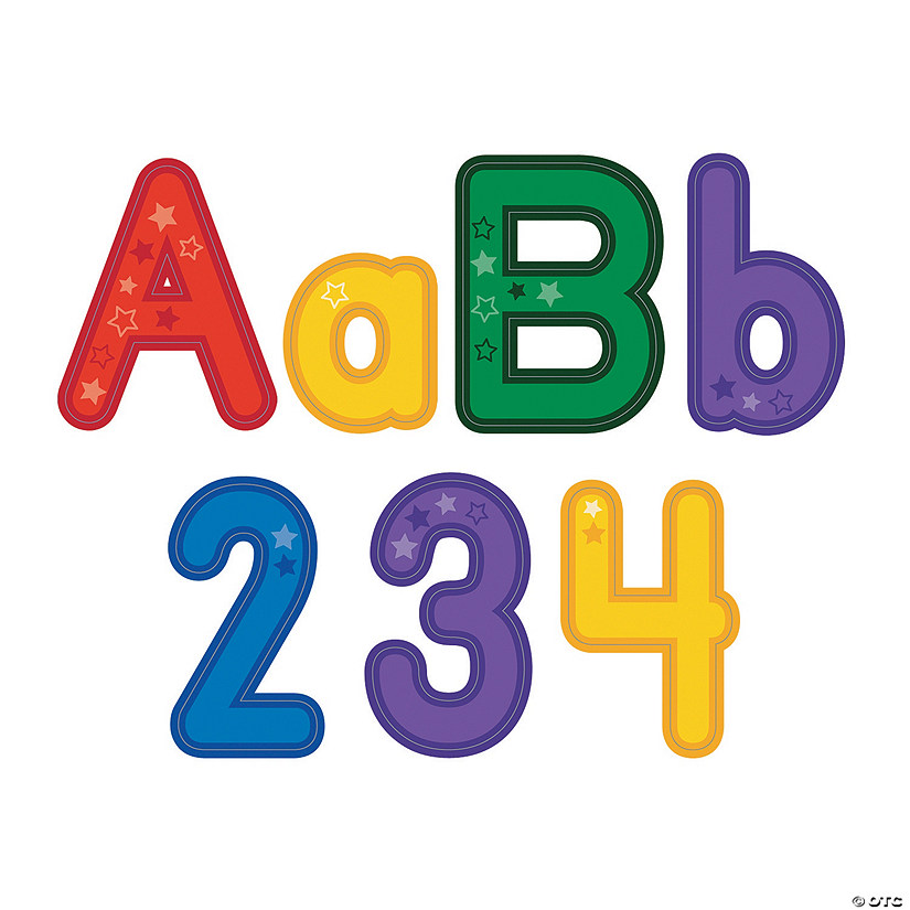 Star Bulletin Board Letters & Numbers