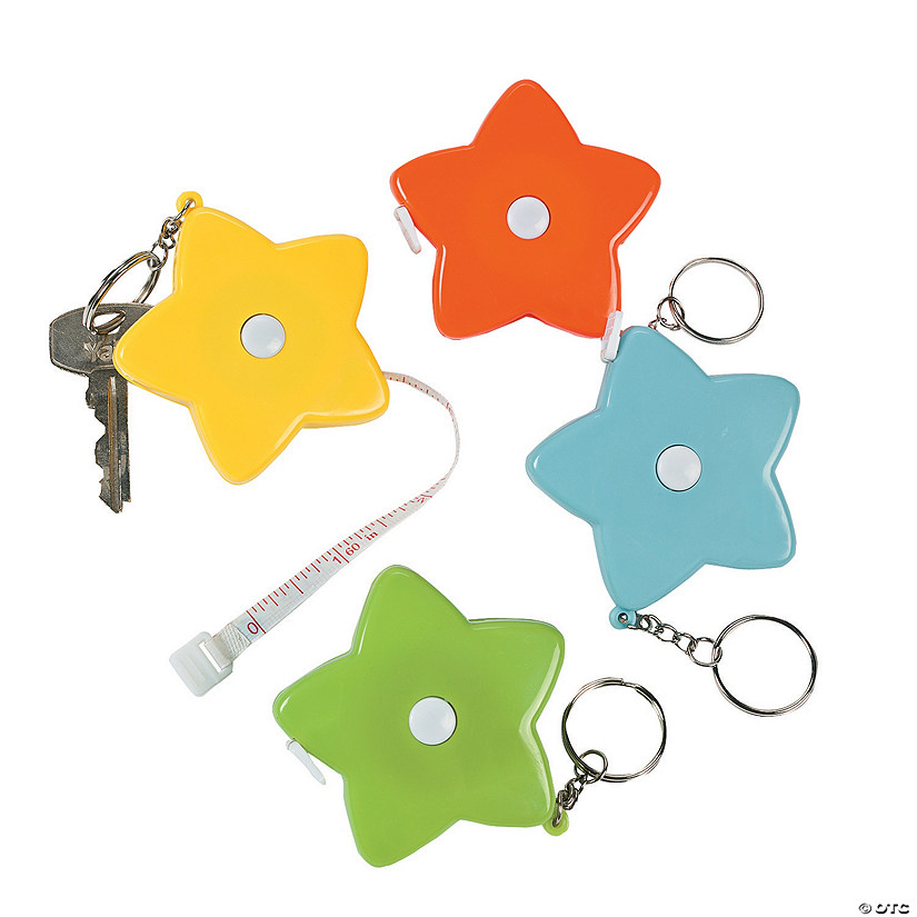 Star Measuring Tape Keychains