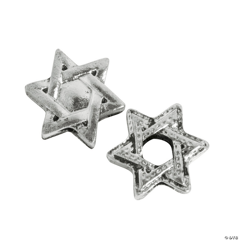 Star of David Large Hole Beads