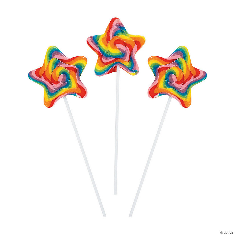 Star-Shaped Swirl Lollipops