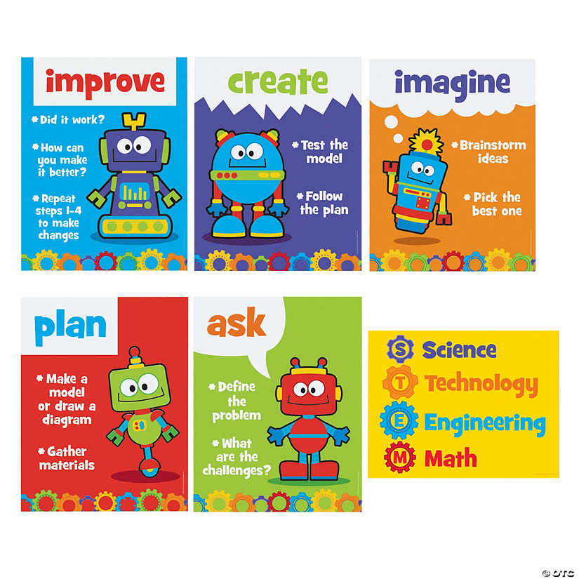 STEM Robots & Gears Posters