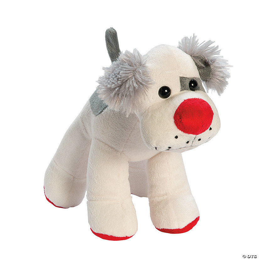 Stuffed Dog with Red Nose