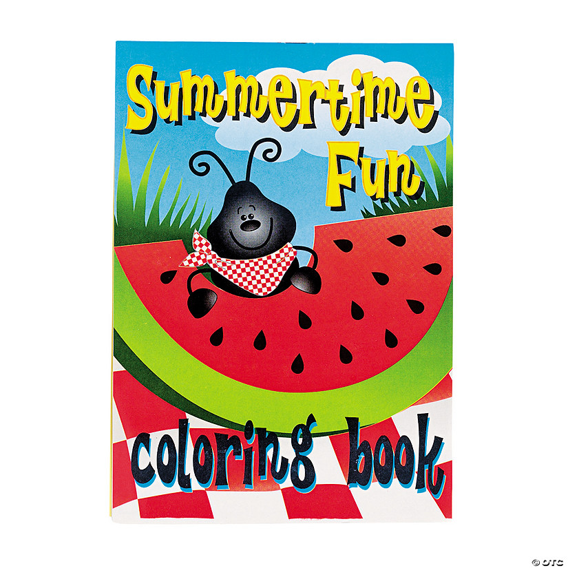 Summertime Fun Coloring Books