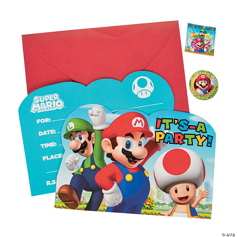 Super Mario™ Invitations